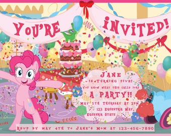 Pinkie Pie Birthday Invitation