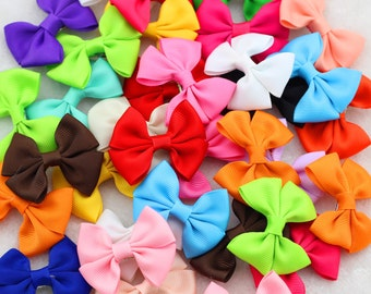"""Baby's Set of 20 or 40  2 1/2"""" Grosgrain Bows / Small Babys Bows /Girls Hair Clip/Small Hair Bow Girls/Girls Small Bows Clips/ Toddler Bows"""