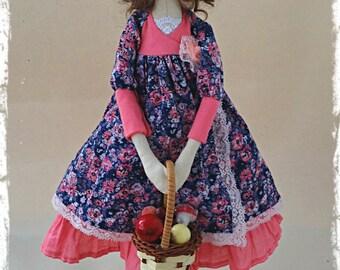 Textile style doll Tilda