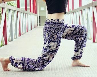 Thai Hose /Purple Elephant Hose /Womens Hose /Womens Harem Hose /Womens Boho Hose /Womens Gypsy Hose /Womens Hippie Hose