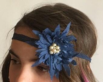 Tape blue zinia