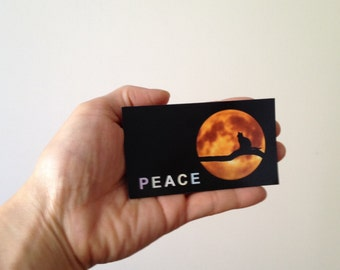 Peace, Full Moon, and Cat (magnet)