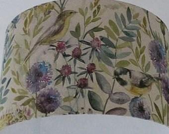 Lampshade Voyage Morning Chorus Fabric Handmade Lamp Shade