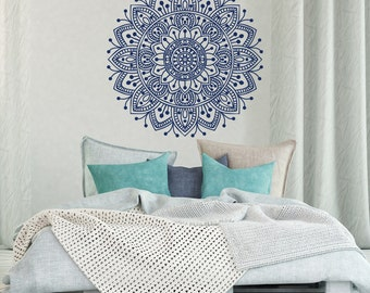Mandala Wall Decal Bedroom  Mandala Vinyl Wall Decal Boho Bohemian Morrocan  Bedroom Decor  Indian