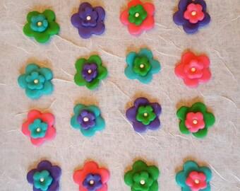 Fondant flower decorations
