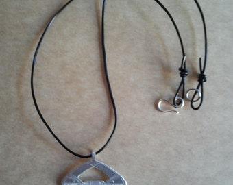 Silver Choker Necklace Pendant
