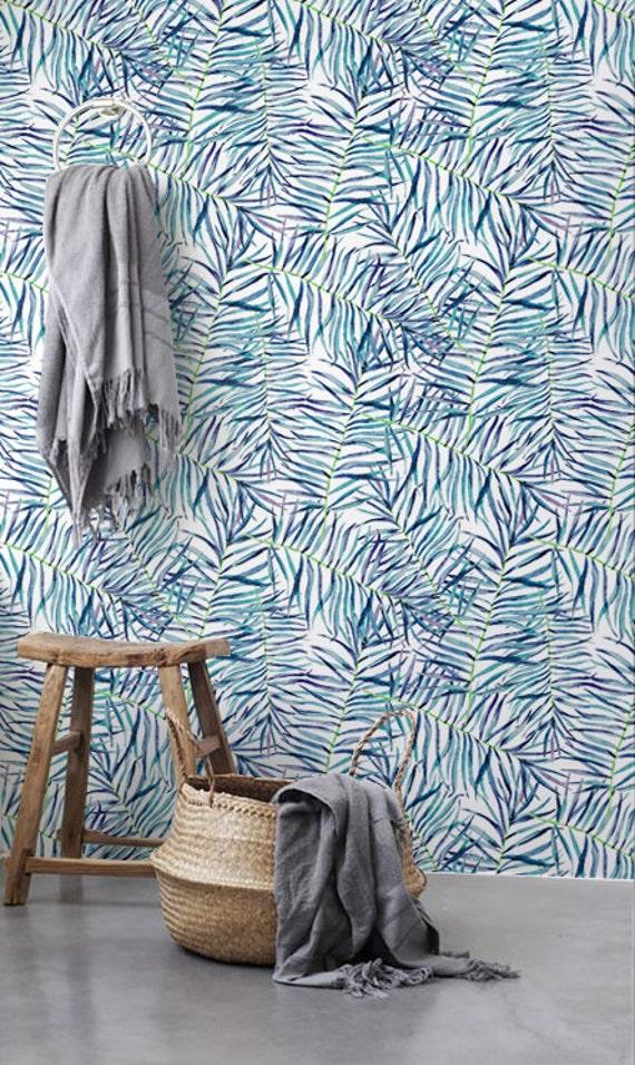 Tropical Wallpaper Watercolor Leaves Wallpaper Temporary