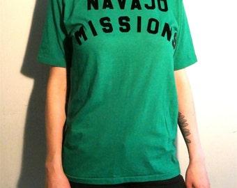 "Vintage 1980's ""Navajo Mission Uncle Bunny"" T Shirt"