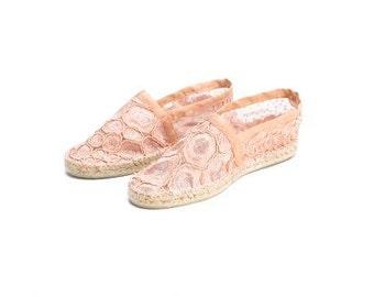 Blonde pink sandals
