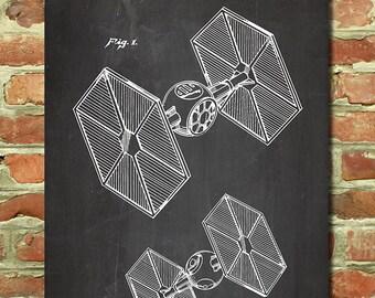 Star Wars TIE Fighter, Star Wars Decor, Husband Star Wars Gift for Boyfriend Gift, Star Wars Art Decor, Geek Art Print, Starwars Art P132
