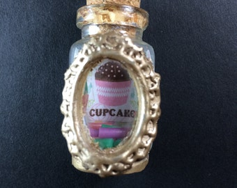 Cupcake Window Vial Necklace