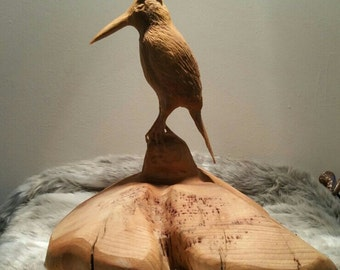 Chainsaw carving of Kingfisher