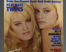 Playboy Magazine,Playmate Twins, Mature Nude Women, 1980s Culture, Vintage Photos, Adult Magazine, Vintage Magazine, Collectible
