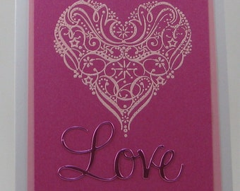 Love with Heat Embossed Heart
