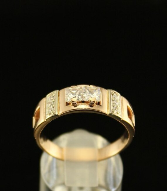 Men engagement ring Gold signet ring Unique engagement ring