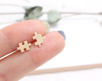 Small Puzzle Stud Earrings