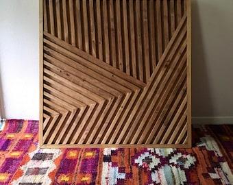 Rustic Wall Art, Wood Wall Art, Geometric Wall Art, Modern Wall Art, Bohoemian Wood Art