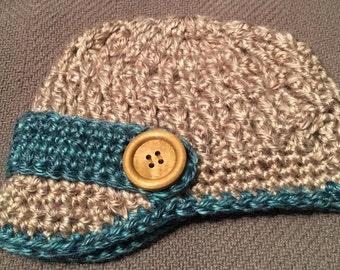 Newborn Boy Pageboy Newsboy Hat - Photo Prop - Soft