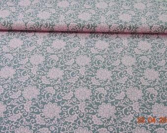 Pink/grey Jersey Fakespitze flowers