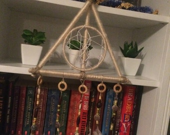 Harry Potter Deathly hallows symbol dream catcher