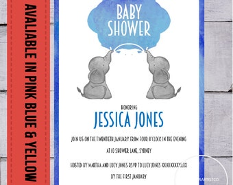 Baby shower invitation suite, Games pack, books for baby, girl, boy, neutral