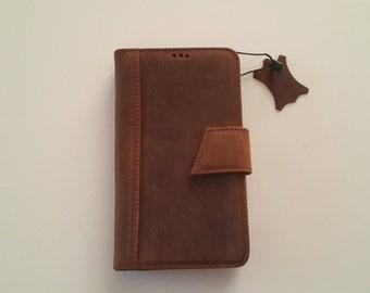 Genuine leather LG G4 Bookcase Magnet Close Flip Cover Folio Case Book Case Wallet Case BROWN