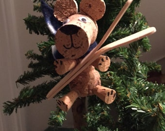 Cork Skiing Bear
