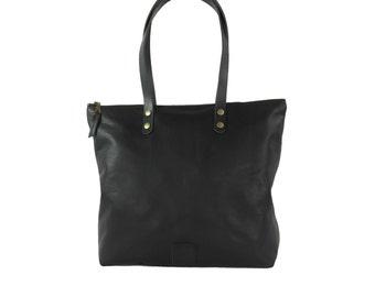 Tote Leather Bag Black
