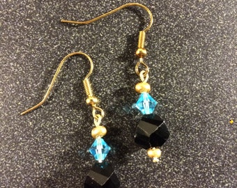 Black and Gold Jewel Earrings