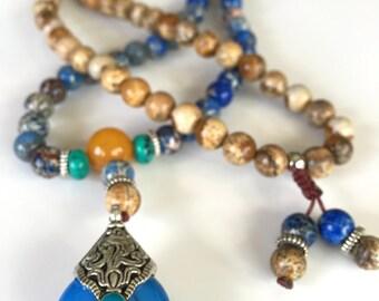 Blue Long Necklace