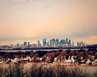 Boston Skyline Photograph Digital File
