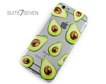 iPhone 7 Plus Case, iPhone 6 Case, iPhone 6s, iPhone Cases, Clear Case, Samsung Galaxy Cases, Rubber Case, Galaxy S7 Case, Cute Avocados