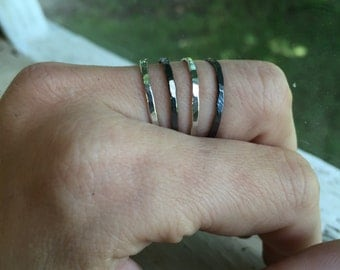 Stacking Rings Set - Silver - Stacking Rings - Quantity of 4