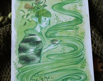 Matcha Fairy*POSTCARD