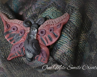Butterfly & Crystal Brooch