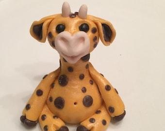 Giraffe Cake Topper Handmade