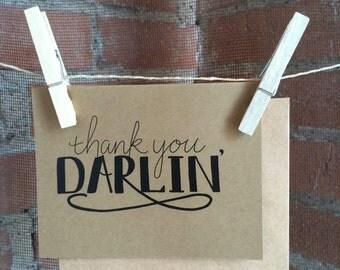 Thank You Darlin' Greeting Card