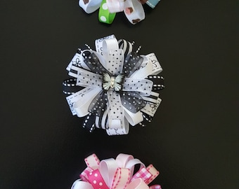 Girls Hair Bows (set of 3) with Free Shipping