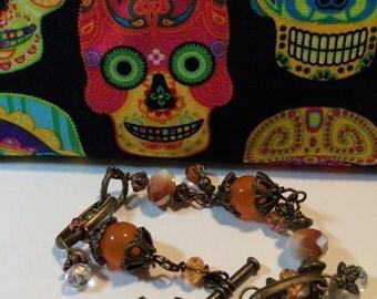 Bracelet - Carnelian and Crystal Bracelet