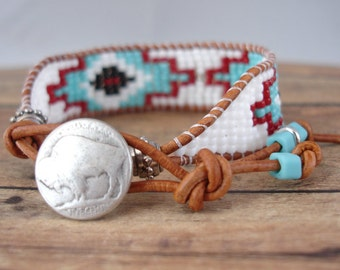 Vintage Inspired Native Beaded Bracelet