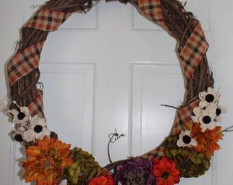 "24"" Fall Grapevine Wreath"