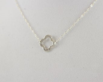 Sterling Silver Clover Charm Necklace BP4030