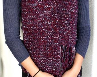 HAPPY HOUR MERLOT * // Hand knit // Chunky Scarf