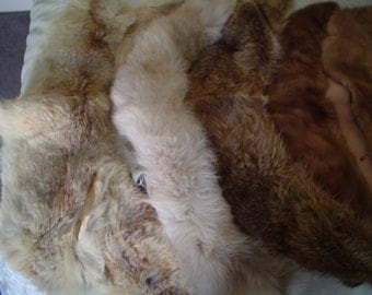12 FUR COLLARS; For use on coat or sweaters or...crafts