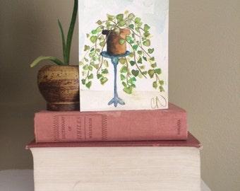 Print - watercolor painting - Pothos Plant