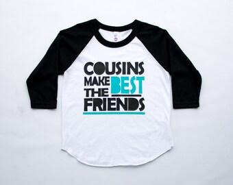 Cousin tee - big cousin shirt - cousins make the best friends - big cousin shirt - famiy reunion tee - little cousin baseball tee - tshirt