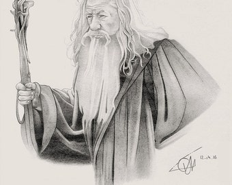 Portrait Gandalf pencils.