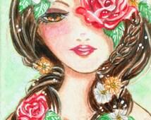 Bookmark Spring Girl