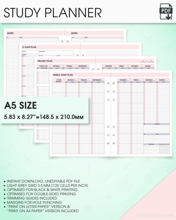 printable college planner