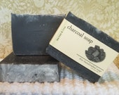 Activated Charcoal Soap with Tea Tree & Lime, Natural Soap, Handcrafted Soap, Natural Bar Soap, Essential Oil Soap